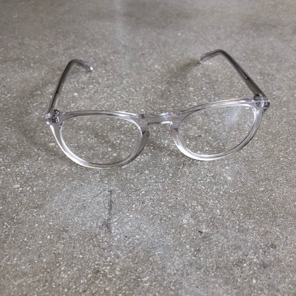 5c29213c28 Warby Parker Haskell 500 Clear Crystal Eyeglasses.  M 5acb8c7af9e5018cc0969a8c